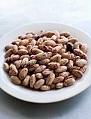 Borlotti beans on a plate