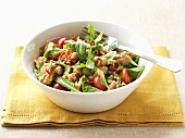 Tuna and chick-pea salad with cocktail tomatoes