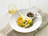 Orange and fennel salad with mixed seeds