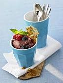 Acai berry yoghurt sorbet