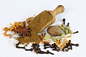 Garam masala surrounded by various spices
