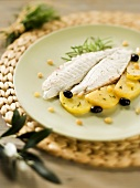 Filetto di orata alla ligure (Sea bream fillet with potatoes)