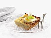 Cheesecake with vanilla quark and apple puree (Sweden)