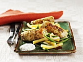 Veal roulades with lemon