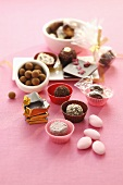 Assorted chocolates and sugared almonds