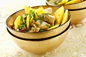 Chicken and mango salad with wild rice