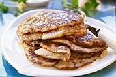 Several potato pancakes