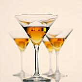 Several glasses of Martini