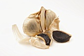 Black garlic with individual cloves