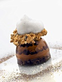 Molecular gastronomy: coffee jelly with Grand Marnier foam