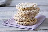 Five rice cakes, stacked