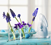 Spring flowers on Easter table (detail)