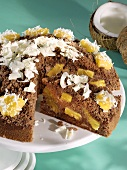Pineapple dome cake with coconut