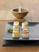 Four nigiri sushi