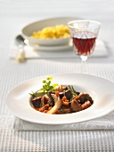 Venison goulash with red wine