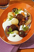 Lamb meatballs with pumpkin and yoghurt