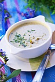 Olive and almond soup