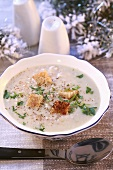 Brain soup with croutons (Christmas)