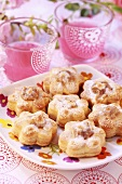 Flower-shaped biscuits