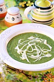 Cream of broccoli soup for Easter