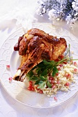 Veal shank with couscous and pomegranate seeds (Christmas)