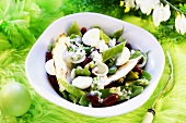 Bean and mangetout salad for Easter