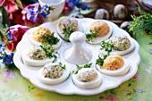 Stuffed eggs for Easter
