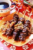 Spicy meat kebabs