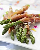 Asparagus spears wrapped in Parma ham