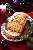 Christmas loaf with candied fruit