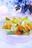 Chicory and mandarin orange salad