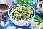 Jewish bean salad with capers