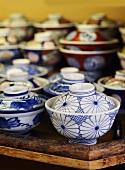 An assortment of Japanese porcelain bowls
