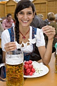Woman with radishes & a litre of beer (Oktoberfest, Munich)