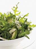 Rocket, avocado & fennel salad with parsley & ginger dressing