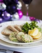 Kipper paste, bread and lemon wedges (Christmas)