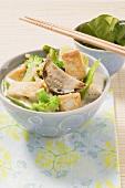 Green tofu curry
