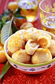 Dumplings with apricot filling