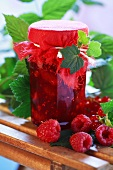 Raspberry and redcurrant jam