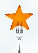 Jelly star on fork