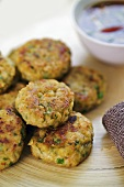 Thai fish cakes with soy dip