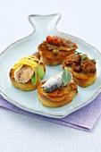 Tapas with sardines and mackerel