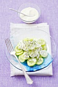 Cucumber salad with sour cream