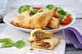 Corn and vegetable pasties