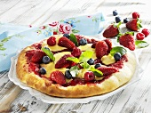 A berry pizza