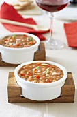Chilli bean stew with peppers