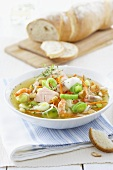 Fish soup with baguette