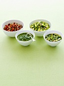 Four different salsas