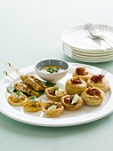 Warmes Fingerfood mit Dip