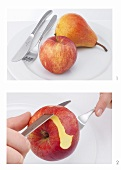 The correct way to eat apples and pears